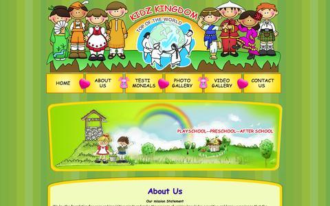 Screenshot of About Page kidzkingdom.org - About Us | KIdz kingdom - captured Sept. 30, 2014