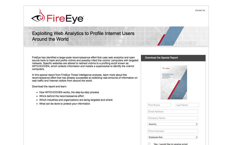FireEye, Inc. | Pinpointing Targets: Exploiting Web Analytics to Ensnare Victims