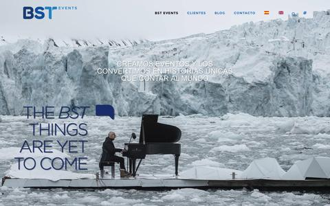 Screenshot of Home Page bst.es - BST Events - captured Nov. 23, 2016