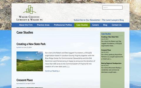 Screenshot of Case Studies Page thelandlawyers.com - Case Studies Archives - captured Oct. 27, 2014