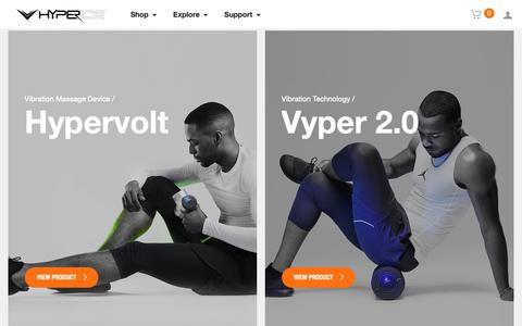 Screenshot of Products Page hyperice.com - Hyperice | Recovery and Movement Enhancement Technology - captured Sept. 30, 2018