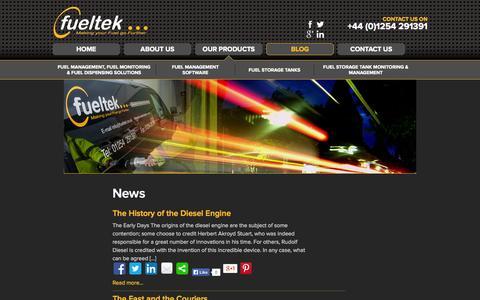 Screenshot of Press Page fueltek.co.uk - News | Fueltek - captured Sept. 30, 2014