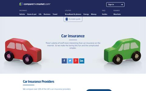 Car Insurance Guides and Help from comparethemarket.com