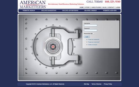 Screenshot of Login Page americanmarketeers.com - Login   General - captured Sept. 30, 2014