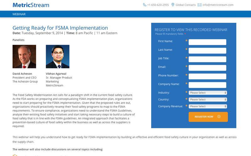 WEBINAR: Getting Ready for FSMA Implementation