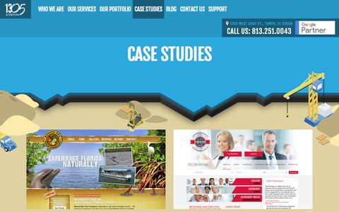 Screenshot of Case Studies Page thirteen05.com - Case Studies | Web Design and Internet Marketing | thirteen05 - captured Nov. 21, 2017