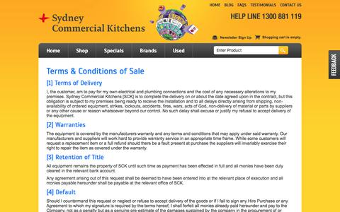Screenshot of Terms Page sydneycommercialkitchens.com.au - SCK terms & conditions - captured Aug. 9, 2017