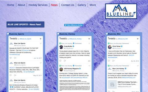 Screenshot of Press Page blueline-sports.com - Blue Line Sports Management, LLC - Hockey Agency & Family Advisors | News - captured Oct. 10, 2017