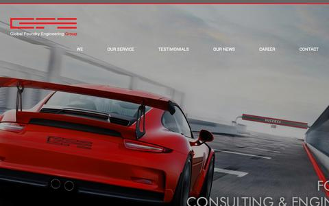 Screenshot of Home Page global-foundry-engineering.com - GFE Global Foundry Engineering, Germany, Foundry Consulting - captured Sept. 28, 2018