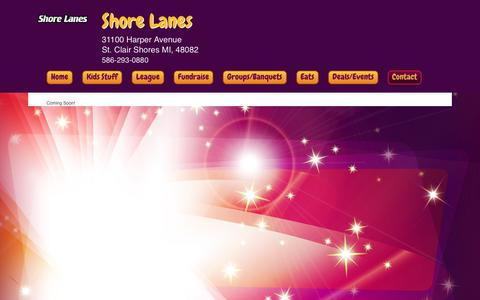 Screenshot of About Page shorelanesbowling.com - Shore Lanes Inc > Contact > About Us! - captured Oct. 21, 2018