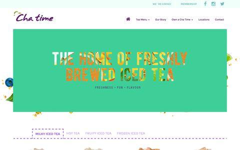 Screenshot of Products Page chatime.com.au - Milky Iced Tea - Tea Menu - Chatime - captured July 12, 2016