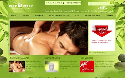 Screenshot of Home Page deeprelax.ie - Best Relaxing Massage   Alternative Medicine Relaxation Therapy: deeprelax.ie - captured Sept. 23, 2014