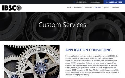 Screenshot of Services Page ibsco.com - Custom Services | IBSCO Admin - captured Nov. 5, 2018