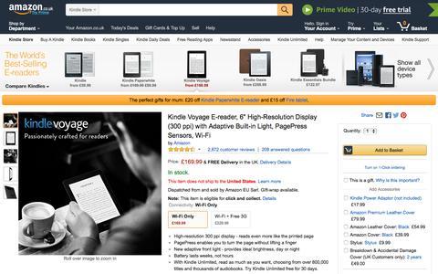 Kindle Voyage E-reader - Amazon.co.uk