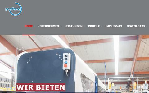 Screenshot of Home Page profana.de - Profana – Wir bringen Kunststoff in Form - captured Oct. 29, 2018