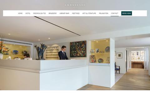 Screenshot of Contact Page ambassade-hotel.nl - Ambassade Hotel - Contact - captured July 29, 2018