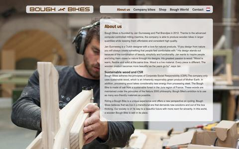 Screenshot of About Page boughbikes.com - About us - Bough Bikes - captured Sept. 30, 2014