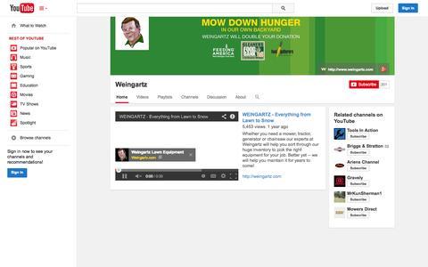 Screenshot of YouTube Page youtube.com - Weingartz  - YouTube - captured Oct. 26, 2014