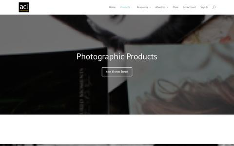 Screenshot of Products Page acilab.com - Products | American Color Imaging - captured Oct. 4, 2014