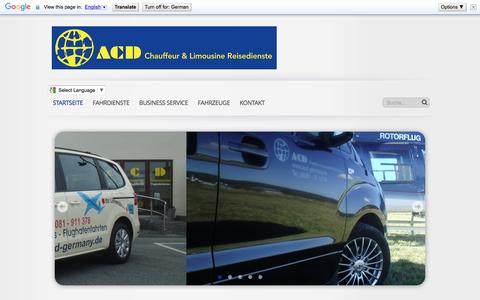 Screenshot of Home Page acd-germany.de - Startseite - ACD Chauffeur & Limousine Reisedienste - captured April 2, 2017