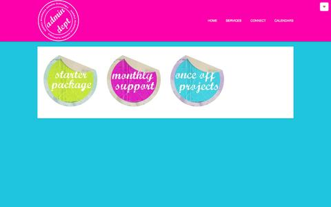 Screenshot of Services Page admindept.co.za - Services : Admin Dept - captured Sept. 30, 2014