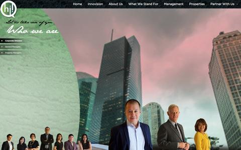 Screenshot of Team Page hii.com.ph - HII | Management - captured Nov. 2, 2014
