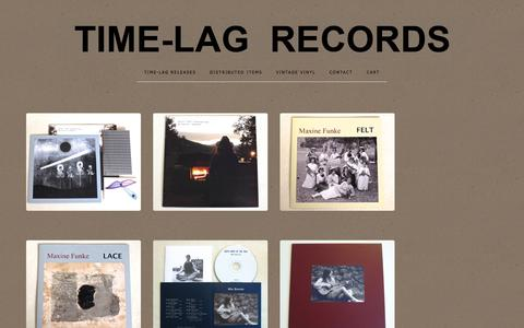 Screenshot of Home Page time-lagrecords.com - Home / TIME-LAG RECORDS - captured June 14, 2016