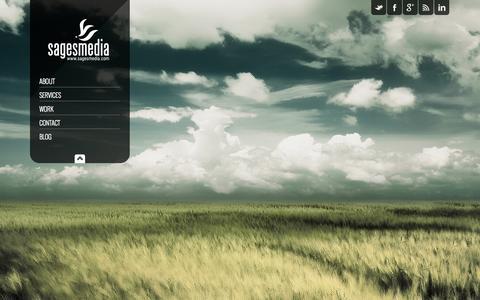 Screenshot of Home Page sagesmedia.com - Sages Media | Florida's Premiere Creative Agency - captured Sept. 30, 2014