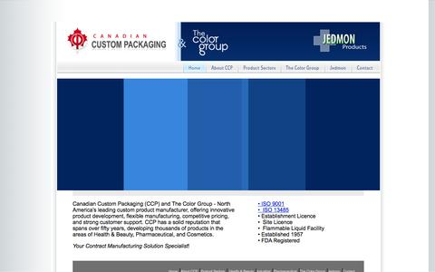 Screenshot of Home Page cdncustompackaging.com - index - captured Oct. 1, 2014