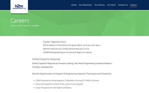 Screenshot of Jobs Page h2mengineering.co.uk - Careers - captured July 9, 2017