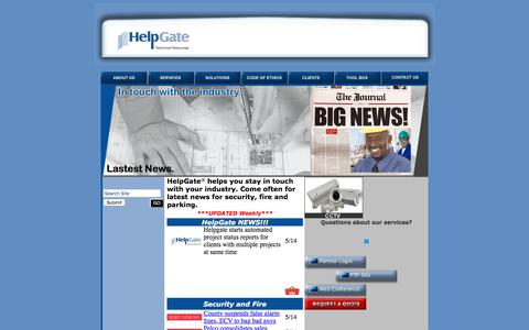 Screenshot of Press Page helpgate-inc.com - News: HelpGate, Inc. - captured July 18, 2018