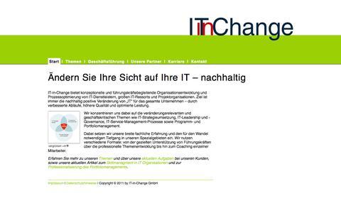 Screenshot of Home Page it-in-change.de - IT-in-Change - Start - captured Oct. 6, 2014