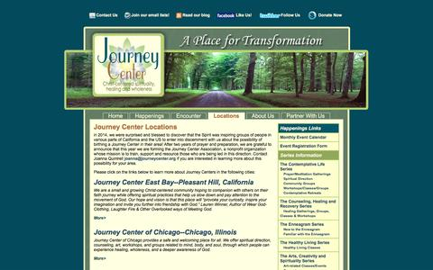 Screenshot of Locations Page journeycenter.org - Spirituality blogs, discussion boards and classes | Journey Center Online Community - captured Dec. 16, 2016