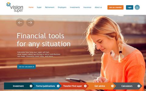 Screenshot of Home Page visionsuper.com.au - Home - Vision Super - captured Sept. 23, 2015