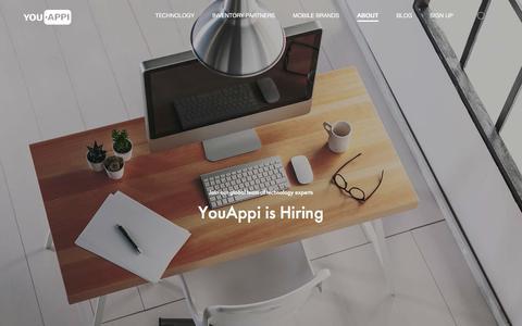 Screenshot of Jobs Page youappi.com - Jobs | YouAppi - captured Dec. 4, 2015