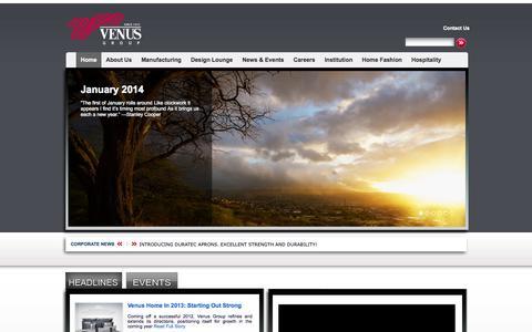 Screenshot of Home Page venusgroup.com - Venus Group | Welcome to Venus Group - captured Oct. 9, 2014