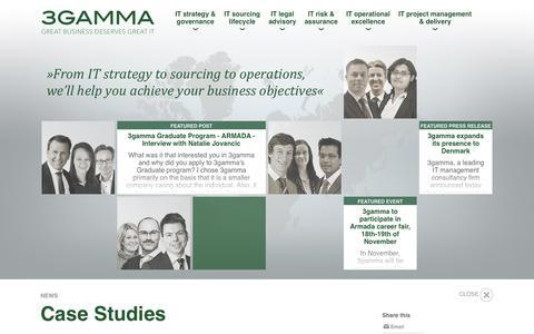 Screenshot of Case Studies Page 3gamma.com - 3gamma - captured Oct. 27, 2014
