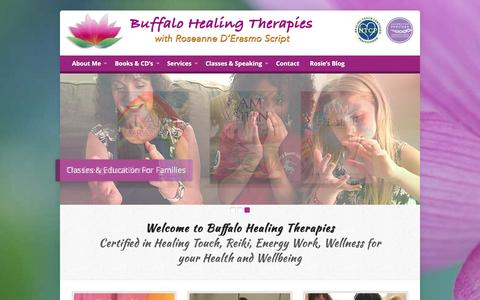Screenshot of Home Page buffalohealingtherapies.com - Buffalo Healing Therapies – Energy Healing and Wellness - captured July 30, 2016