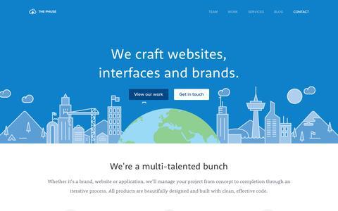 Screenshot of Home Page thephuse.com - Toronto design and development agency | The Phuse - captured Sept. 25, 2014