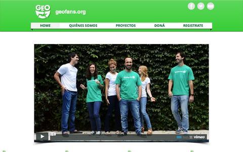 Screenshot of Home Page geofans.org - geofans-org - captured July 20, 2015
