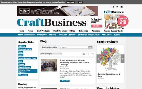 Screenshot of Blog craftbusiness.com - Editorial Blog   Craft Business Magazine UK - captured Sept. 20, 2016