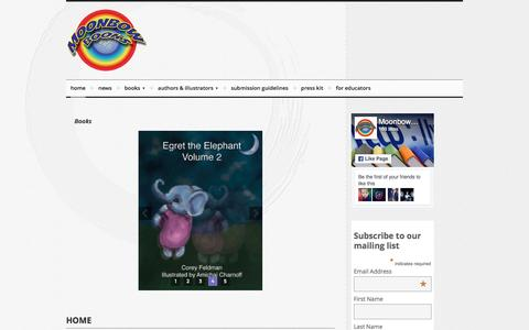 Screenshot of Home Page moonbowbooks.net - Moonbow Books – Print, eBook, and Audio Publisher - captured Dec. 26, 2016