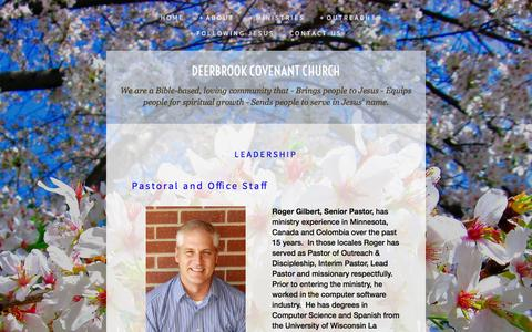 Screenshot of Team Page deerbrook.church - Leadership — Deerbrook Covenant Church - captured April 8, 2017