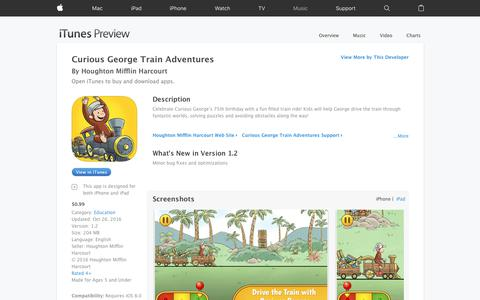 Curious George Train Adventures on the App Store