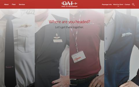Screenshot of Jobs Page oai.aero - Work for Omni | Omni Air International - captured Oct. 18, 2018