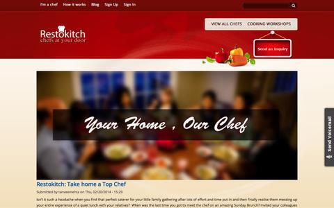 Screenshot of Blog restokitch.com - Blog   Restokitch - captured Oct. 8, 2014
