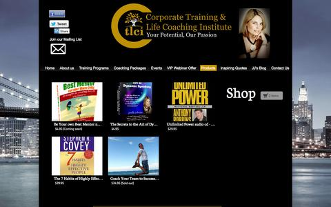 Screenshot of Products Page ctlci.com.au - Products - Corporate Training & LIfe Coaching Institute - captured Oct. 3, 2014