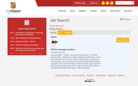 Screenshot of Jobs Page utahhcc.com - Job Search - Utah Hispanic Chamber of Commerce, UT - captured Oct. 23, 2018