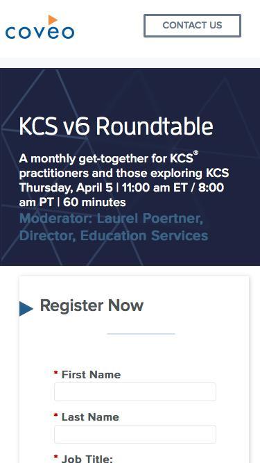 KCS v6 Roundtable