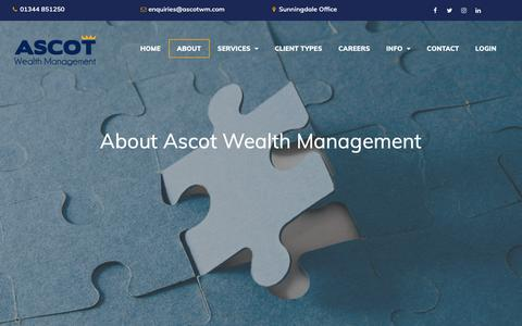 Screenshot of About Page ascotwm.com - About  | Ascot Wealth Management - captured Oct. 4, 2018